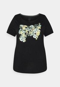 MY TRUE ME TOM TAILOR - FRONT ARTWORK - Print T-shirt - black - 0