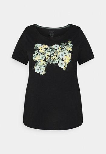 FRONT ARTWORK - Print T-shirt - black