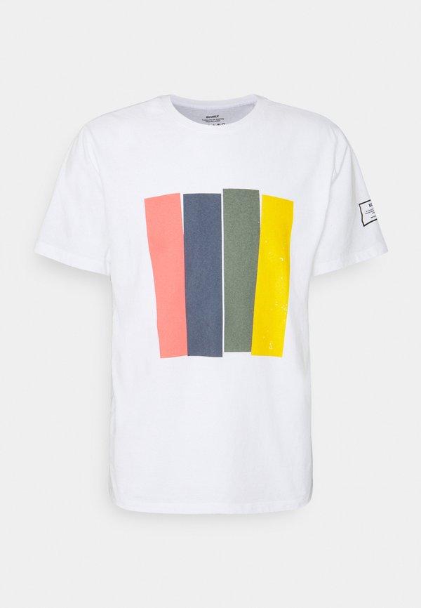 Ecoalf MAHE MAN - T-shirt z nadrukiem - white/biały Odzież Męska MNHD