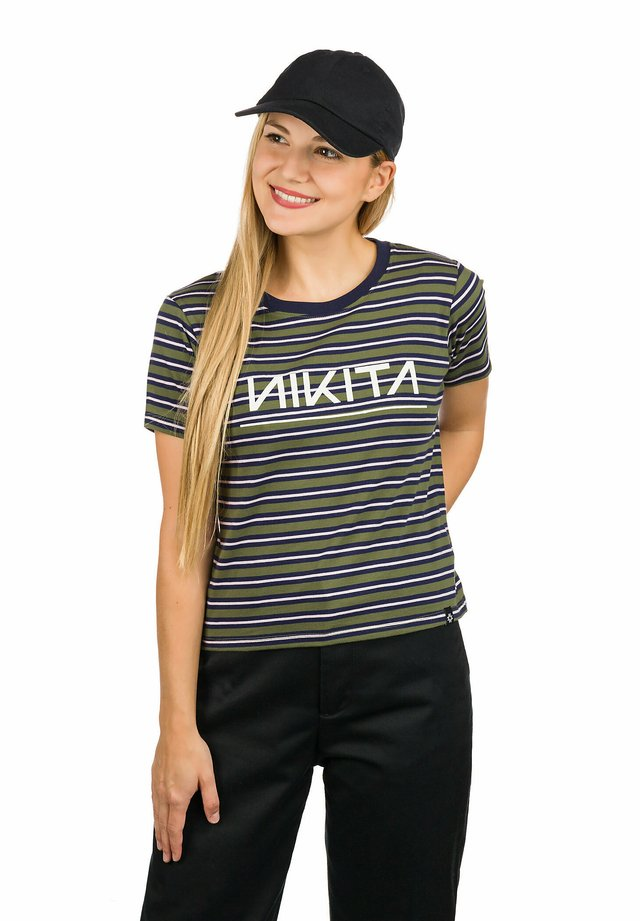 SCATTER - Print T-shirt - navy