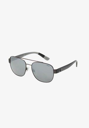 Sunglasses - semishiny dark gunmetal/silvercoloured mirror