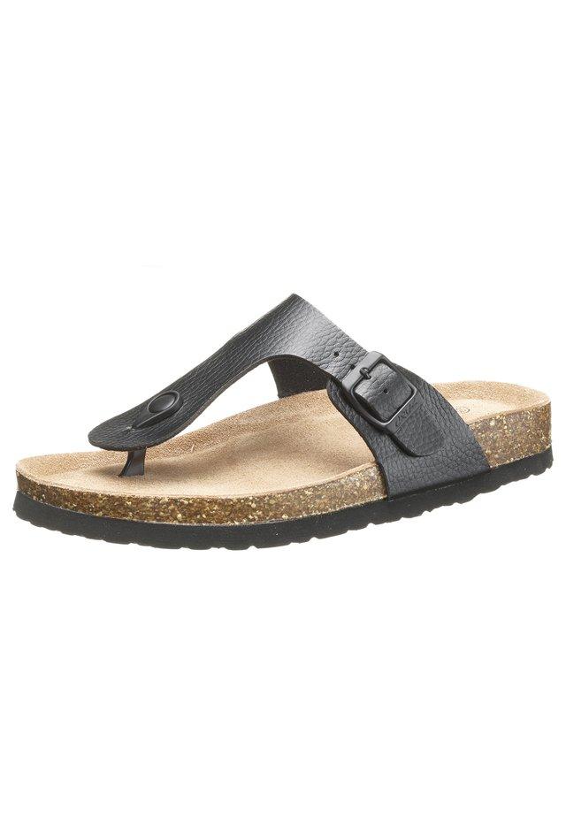 T-bar sandals - 1001a blacka