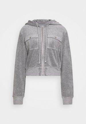 ZIP THROUGH - Zip-up hoodie - grey