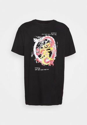RIKU - T-shirt con stampa - black