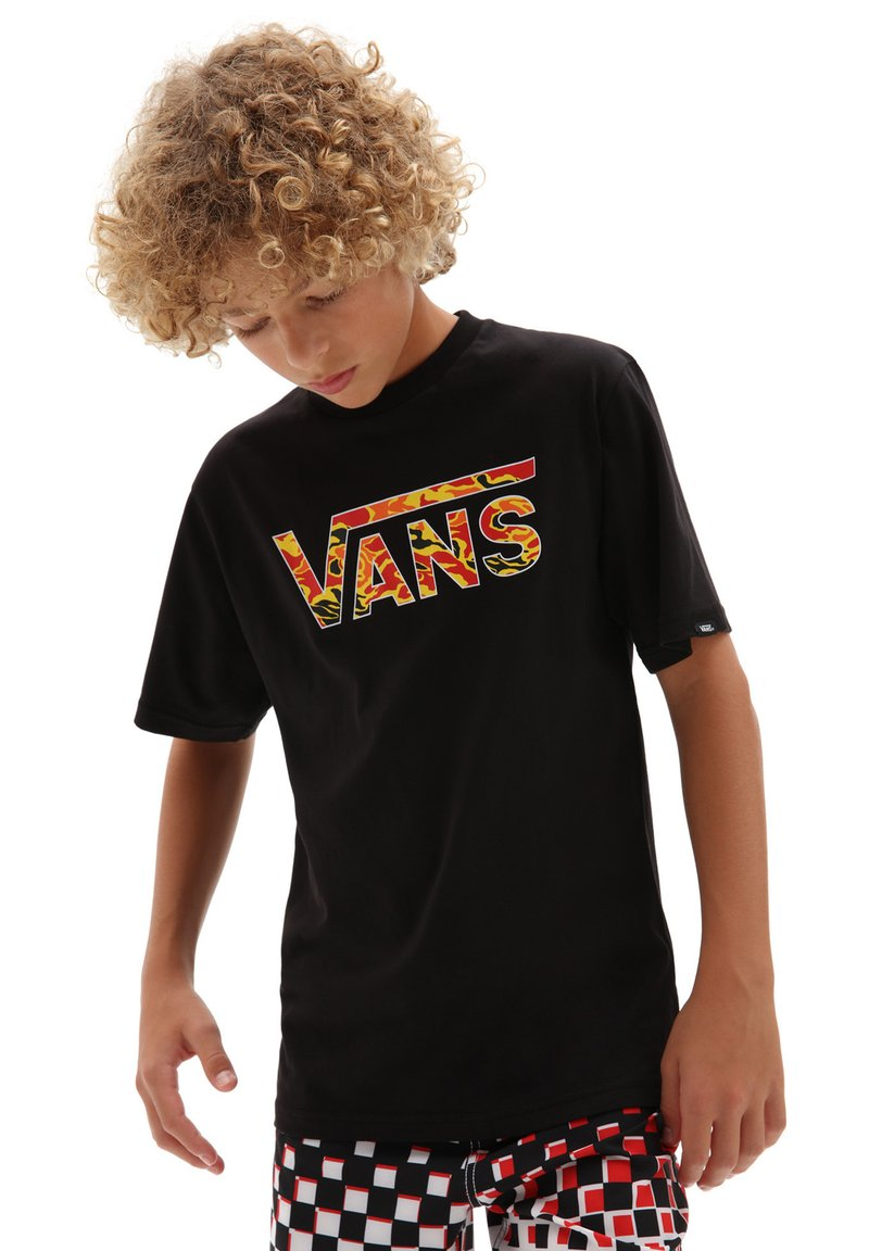 Vans - BY VANS CLASSIC LOGO FILL BOYS - T-shirt print - black/flame camo