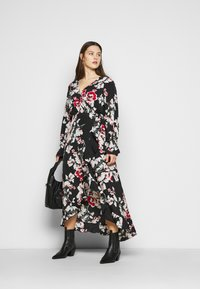 Missguided Plus - WRAP HIGH LOW MAXI DRESS - Day dress - multi - 1