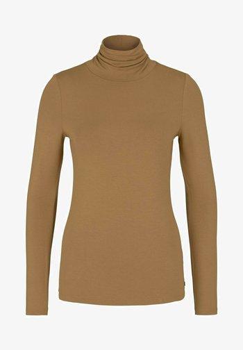 Long sleeved top - soft camel