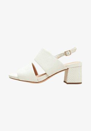 SHEER SLING - Sandals - white