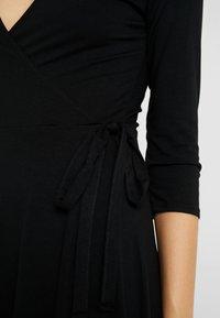Dorothy Perkins Tall - WRAP DRESS - Jersey dress - black - 5