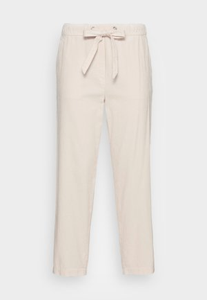 PANTS TAPERED LEG FRENCH POCKETS CROPPED - Tygbyxor - chalky sand