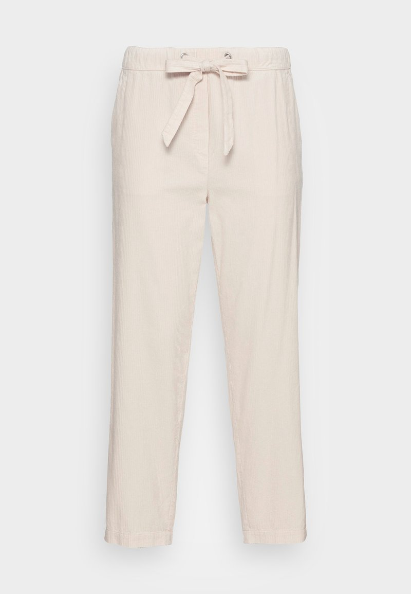 Marc O'Polo - PANTS TAPERED LEG FRENCH POCKETS CROPPED - Trousers - chalky sand