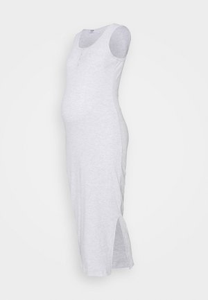HENLEY MAXI DRESS MATERNITY - Jerseykjole - light grey marle
