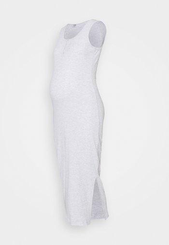 HENLEY MAXI DRESS MATERNITY - Žerzejové šaty - light grey marle
