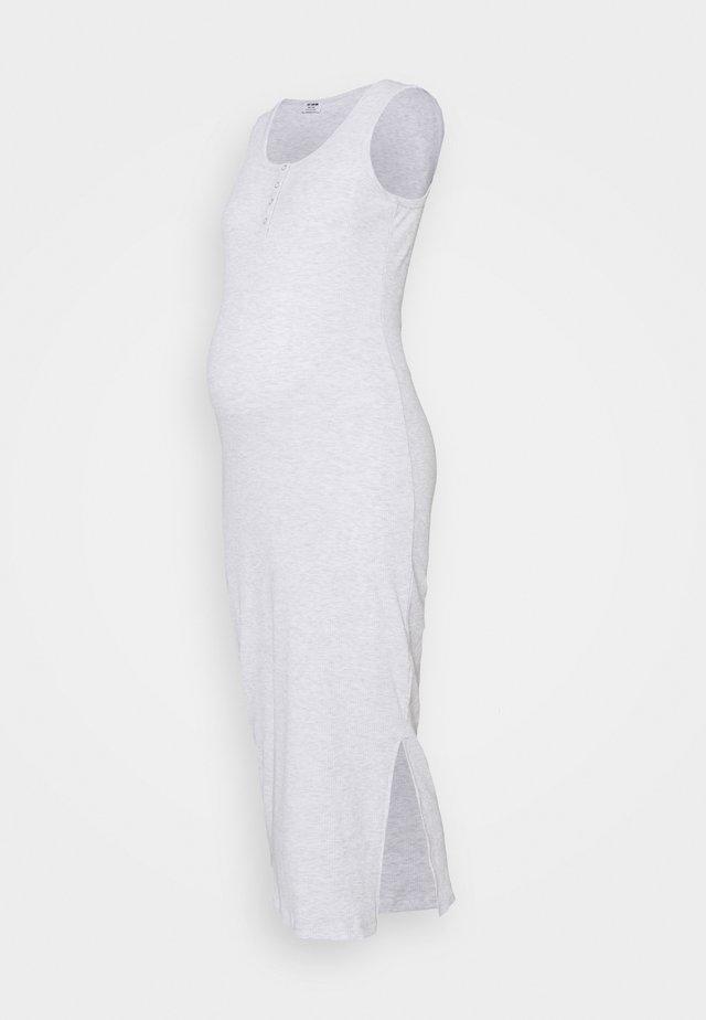 HENLEY MAXI DRESS MATERNITY - Jerseyjurk - light grey marle