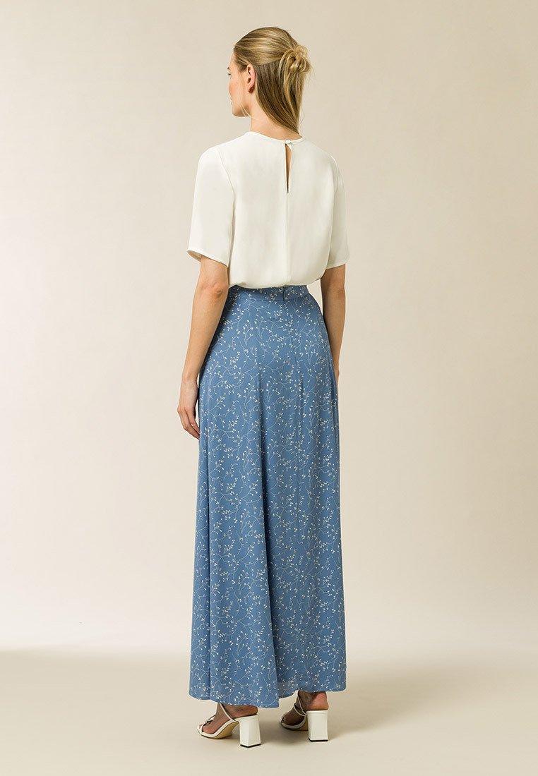 Affordable Women's Clothing IVY & OAK Maxi skirt aop leaf sea blue P7Gcof1KU