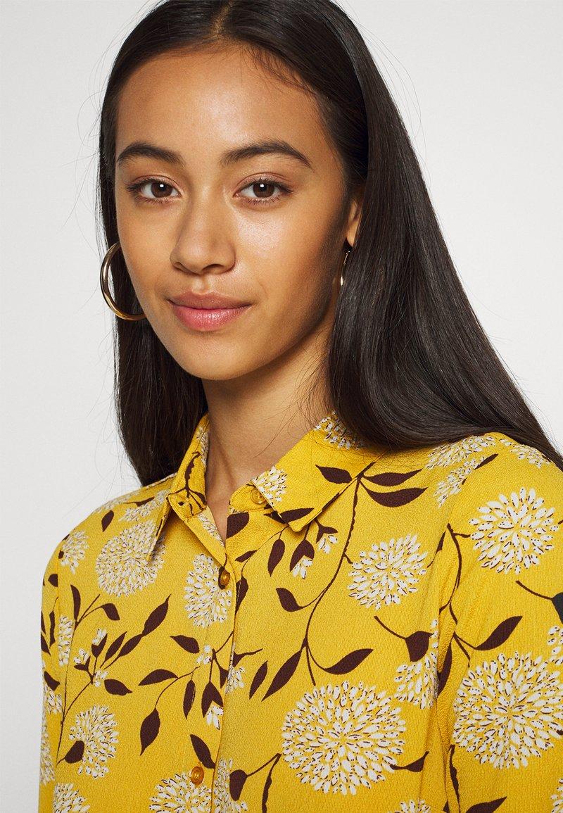 ONLY - ONLNOVA LUX DRESS - Day dress - golden yellow/white