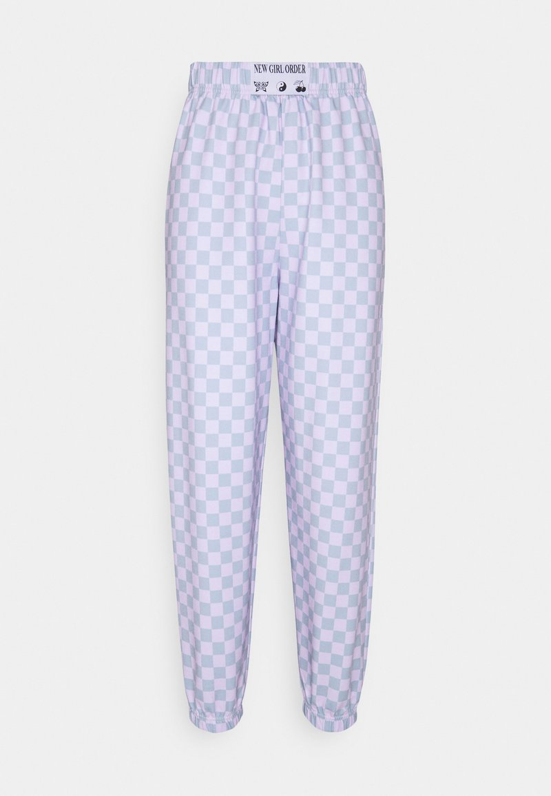 NEW girl ORDER - CHECKERBOARD JOGGER - Tracksuit bottoms - multi