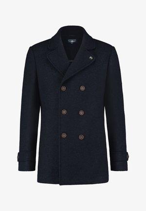 Short coat - dark-blue plain
