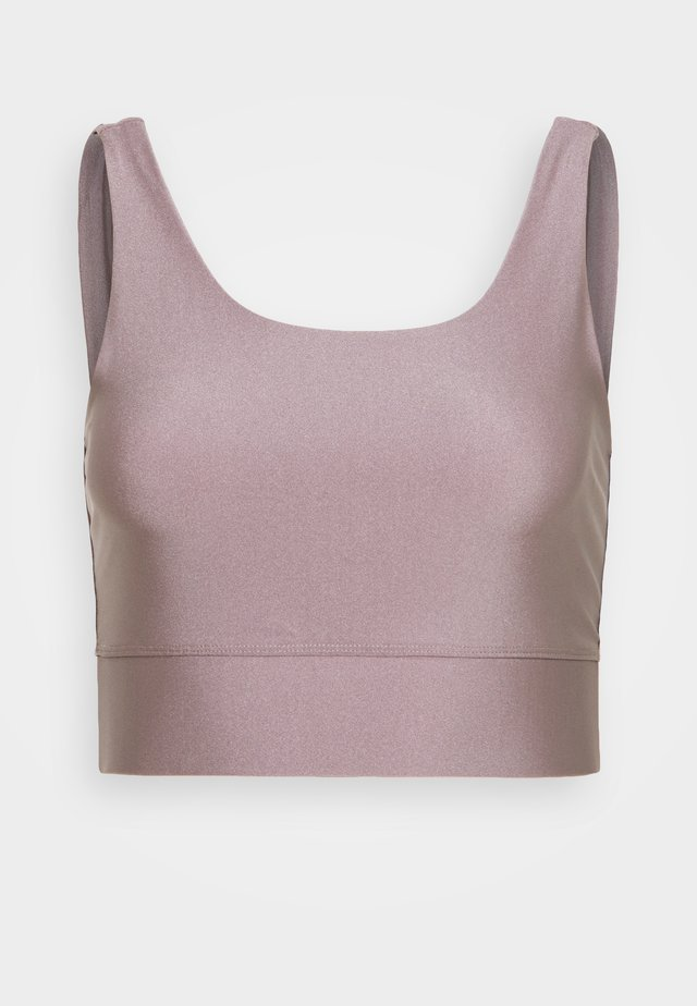 BUSTIER GLOSSY - Sport BH - taupe