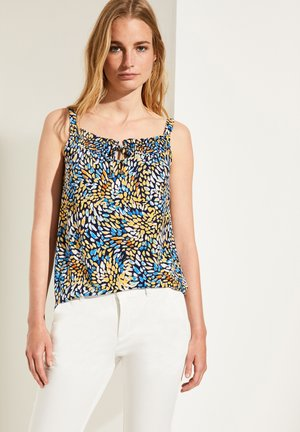 Blouse - yellow colorful dots