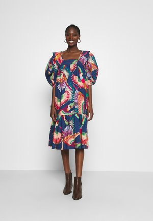 COLORFUL TOUCANS MIDI DRESS - Day dress - multi