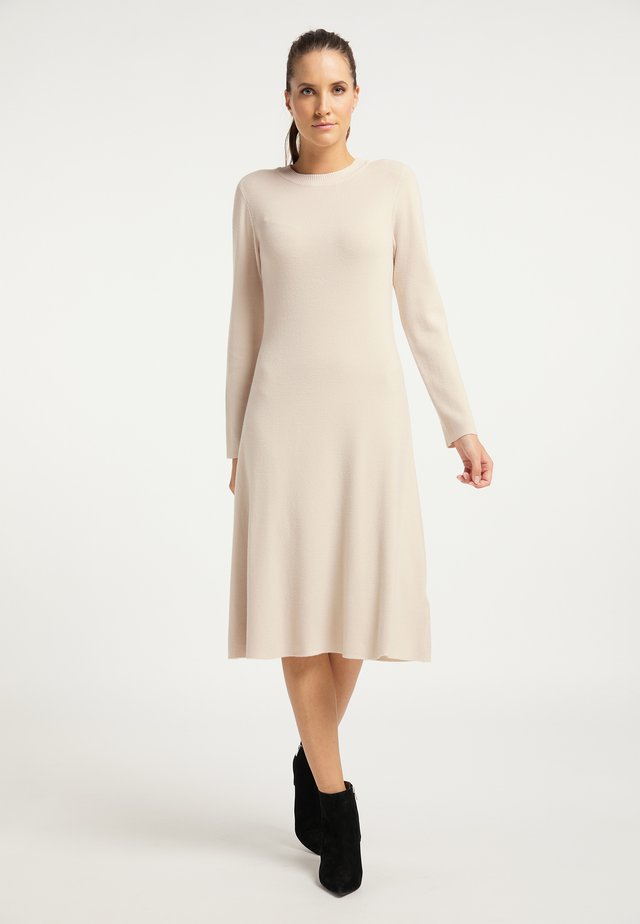 Pletené šaty - silber beige