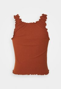 BDG Urban Outfitters - LETTUCE EDGE TANK - Topper - brown - 1