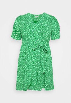 BUTTON THROUGH SKATER DRESS - Day dress - jade mini vine ditsy