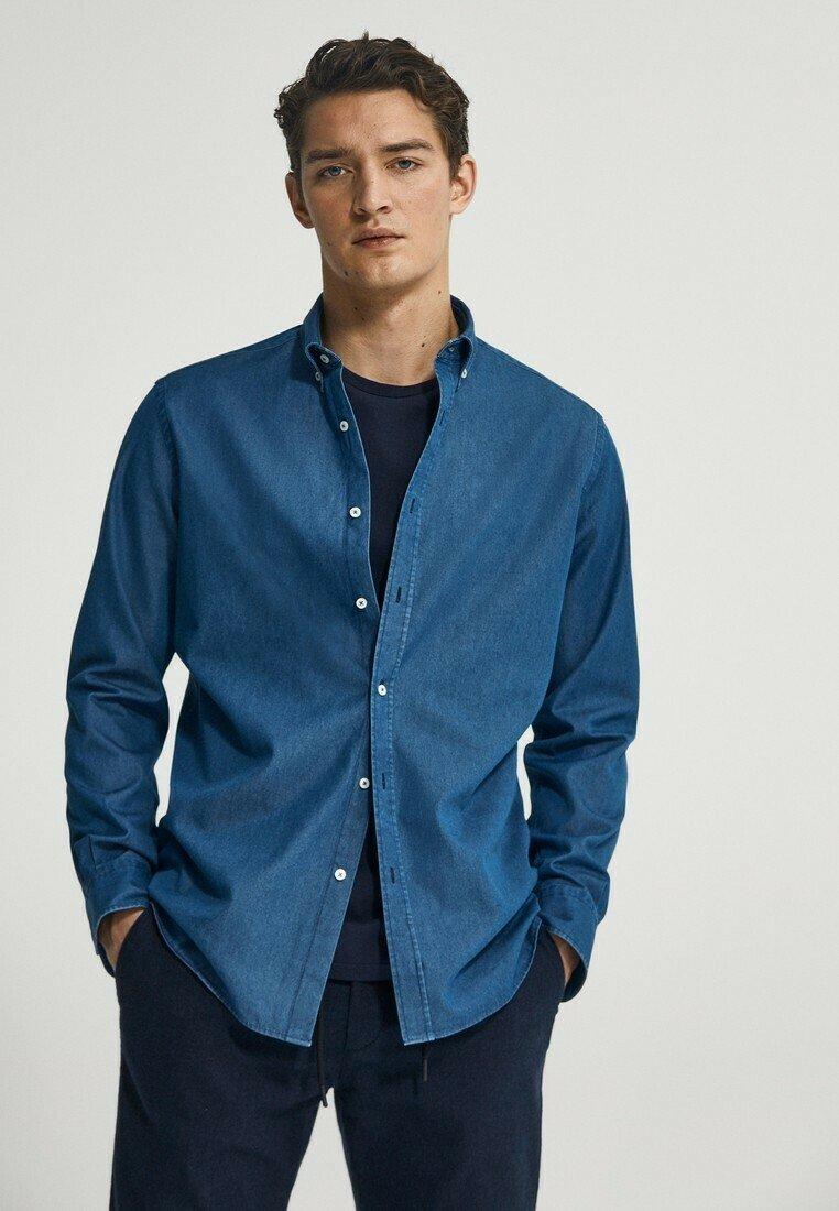 Massimo Dutti - Shirt - dark blue