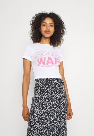 WHAT ABOUT PIZZA  - T-shirts med print - white