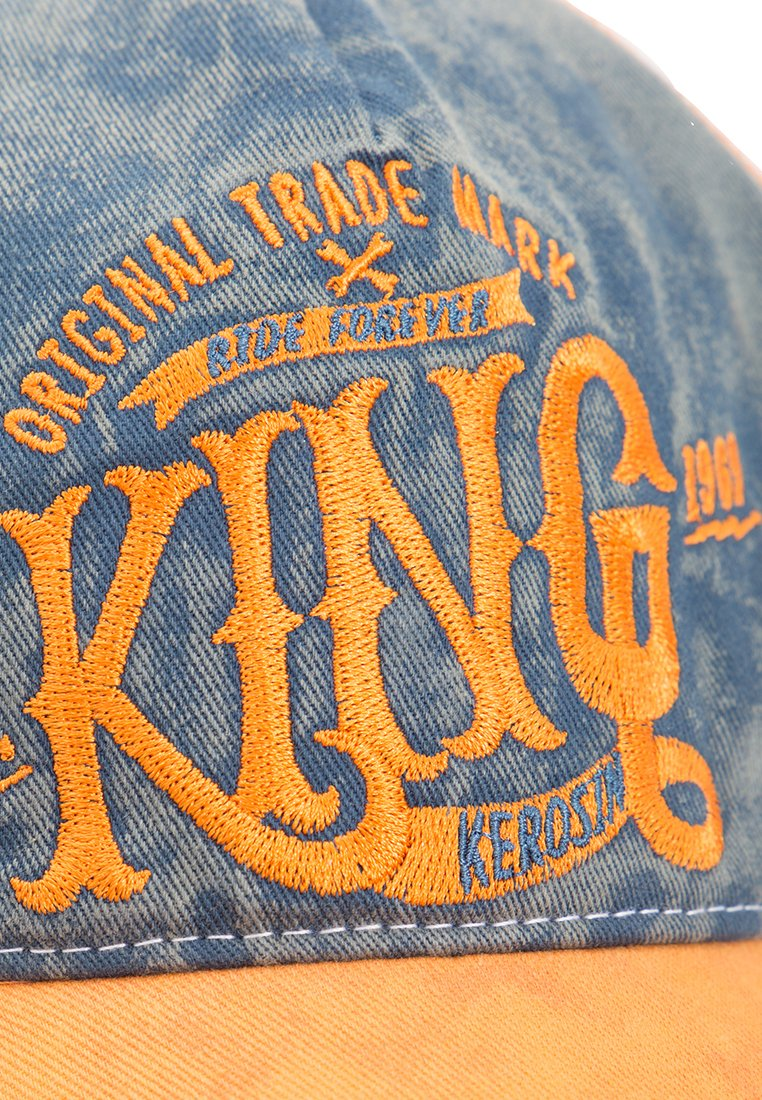 King Kerosin Used Look - Cap Orange