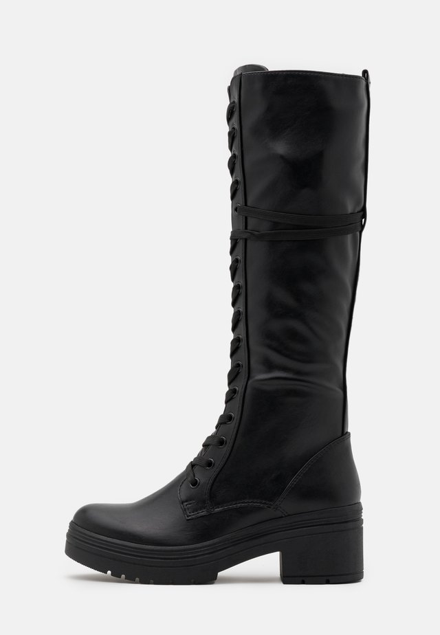 Botas con plataforma - black antic