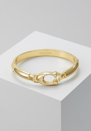 SCULPTED PLAQUE BANGLE - Armbånd - gold-coloured