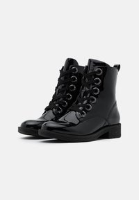 Jana - Lace-up ankle boots - black patent - 2