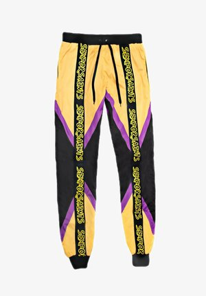 TRI-COLOURED RACE PANT - Tracksuit bottoms - mustard yellow