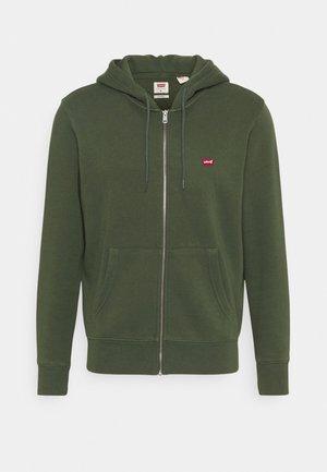CORE ZIP UP - Zip-up sweatshirt - thyme