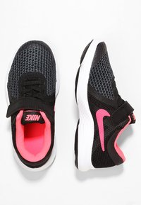 Nike Performance - REVOLUTION 4 - Neutral running shoes - black/white/racer pink - 1