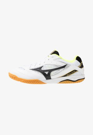 WAVE DRIVE 8 - Sports shoes - white/black/safety yellow