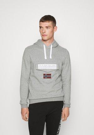 BURGEE WIN - Hoodie - med grey