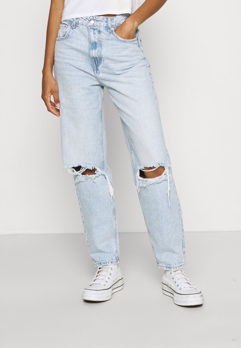 Gina Tricot - VINTAGE HIGH WAIST  - Jeans relaxed fit - light blue