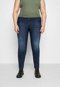 Noisy May Curve - NMLUCY  - Jeans Skinny Fit - dark blue denim - 0