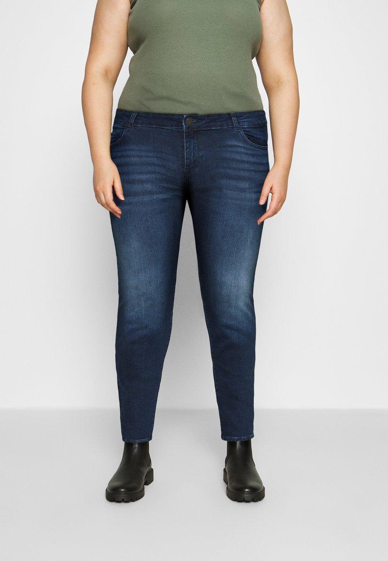 Noisy May Curve - NMLUCY  - Jeans Skinny Fit - dark blue denim