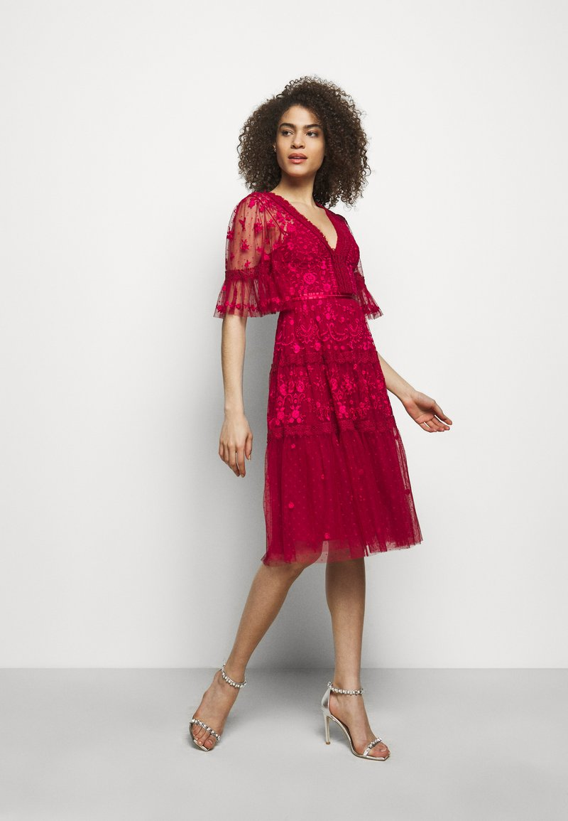 Needle & Thread - LOTTIE MIDI DRESS - Cocktail dress / Party dress - deep red