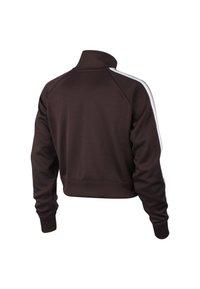 Nike Sportswear - W NSW TOP LS HZ SHDW STRP - Sweatshirt - bordeaux/pink/white - 1