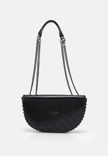 HANDBAG LOGO VISION FLAP - Across body bag - black
