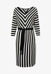 comma - DRESS - Pletené šaty - black - 4