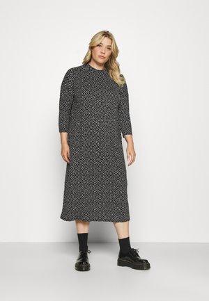 T-SHIRT MIDI DRESS - Jerseyklänning - black