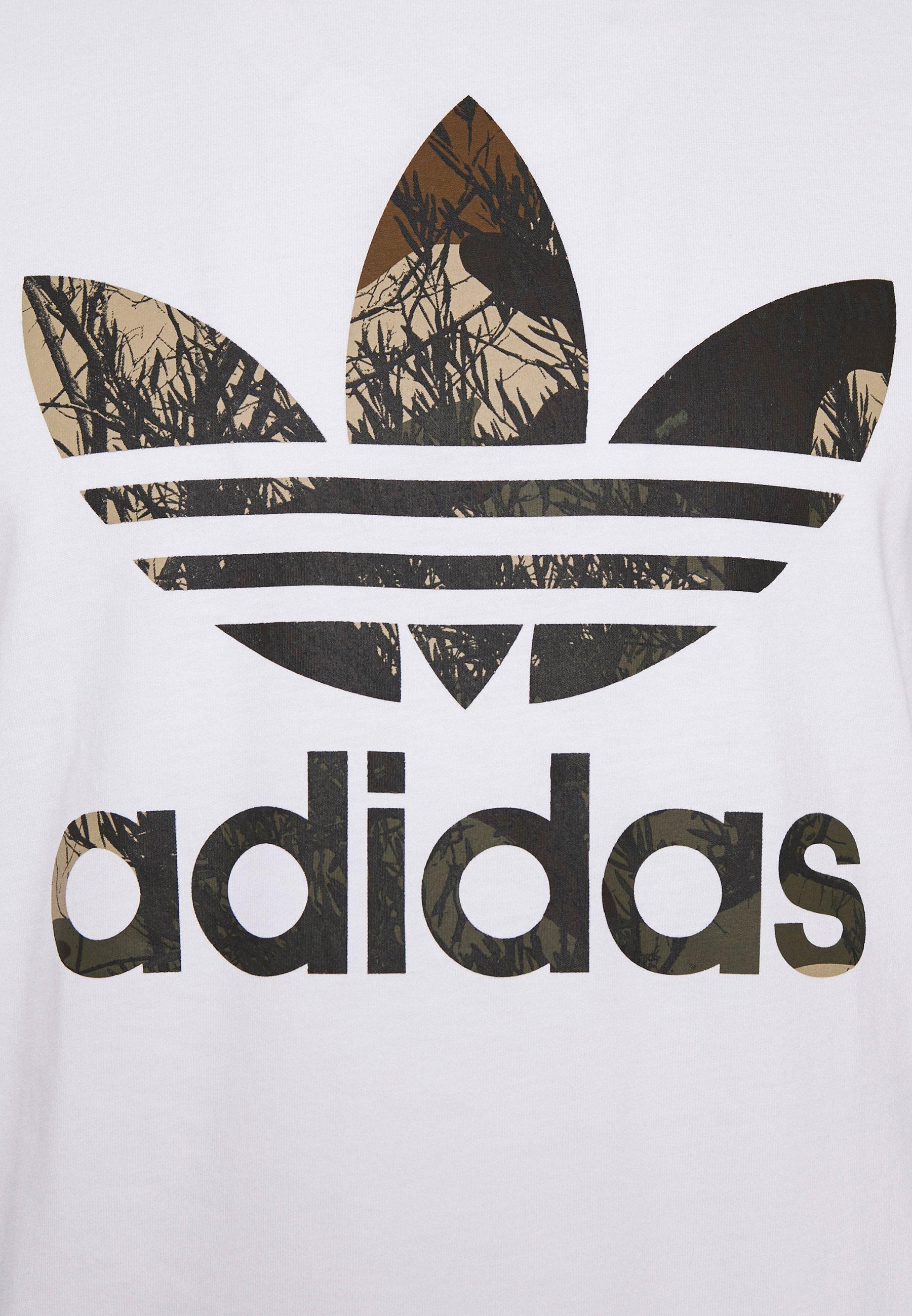 Adidas Originals Camo Tee - T-shirts Med Print White/hvit
