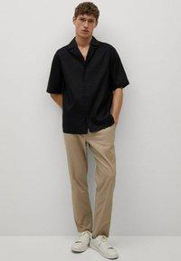 Mango - BOWLING - Shirt - black - 1