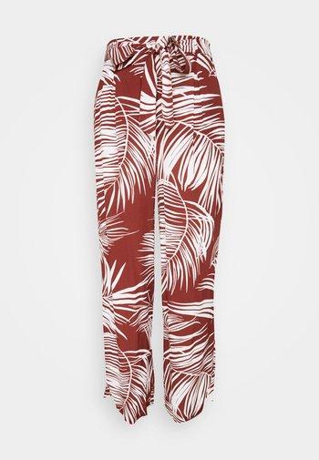 Trousers - burnt henna/palm leaf
